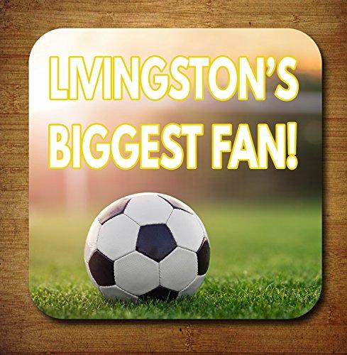Livingston 's Biggest Fan Fußball Getränke Untersetzer-Geburtstag Geschenk/Strumpffüller