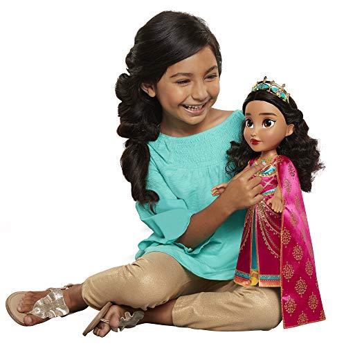 Jakks Pacific- Muñeca Interactiva Aladdín-Jazmine Aladín Disney Personajes,, 35 cm (204752)