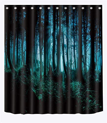 uschvorhang Horror Wald 180 cm x 180 cm Wasserdicht Polyester Stoff Badezimmer Dekor Vorhang ()