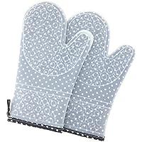 guantes de rejilla de silicona y de algodón | guantes de horno de color gris | guantes de horno unisex | accesorios para el horneado y accesorios de barbacoa