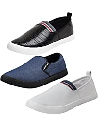 Bersache Men Combo Packs of 3 Loafers Shoes