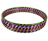 Porter and Lambert Premium Quality Adults Kids Stripy Multicolor Small Large Hula Hoops Sporting Good Fitness Rainbow Color (Pack Of 2, Small)