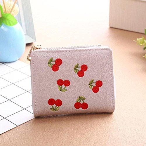 Sacchetto di moneta della ragazza del ricamo di OHQ, borsa della borsa della borsa della moneta del raccoglitore delle donne (Rosa) Rosa