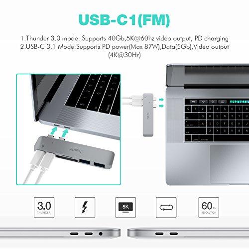 51s7RLdnmDL - [amazon] HAVIT Thunderbolt 3 USB-C-Hub für 2016/2017 Apple MacBook Pro für nur 50,99€