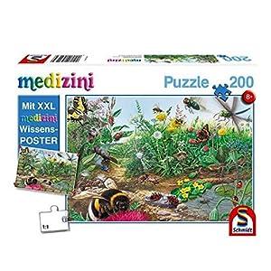 Schmidt Spiele Puzzle 56293Niño Rompecabezas, descubre el Mundo de los Insectos, medizini (Incluye Póster), 200Piezas