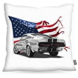 VOID Stars and Stripes Muscle Car Kissenbezug Kissenhülle Outdoor Indoor eleanor mustang, Kissen Größe:80 x 80 cm