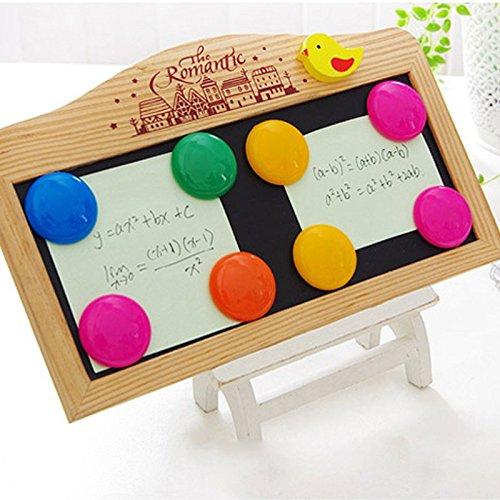 MMXXAIWWAA Runde Farbe Büro Hinweis Whiteboard Magnet Kühlschrank Aufkleber Nachricht Bar Kühlschrank Ablagerung Zeit magnetische Aufkleber magnetische Perlen