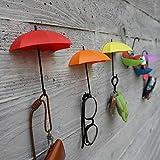 EQLEF® Creativa Forma ombrello decorativi attaccapanni Parete Storage Rack gancio di gancio - Confezione da 6
