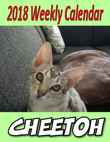2018 Weekly Calendar Cheetoh: Cat Jokes, Puns, & Mazes, Personal Notes, To Do List and More... (Katzen Cheetoh)