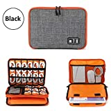 ORPIO (LABEL) Waterproof Double Layer Electronic Accessories Gadget Organizer Bag, Universal Carry Travel