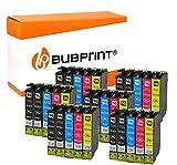 Bubprint 30 Druckerpatronen kompatibel für Epson T1631 - T1634 für Workforce WF-2010W WF-2510WF WF-2520NF WF-2530WF WF-2540WF WF-2630WF WF-2650DWF