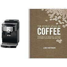 """Cafetera superautomática DeLonghi y libro """"The World Atlas of Coffee"""" (inglés)"""