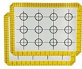 HelpCuisine Silikon Antihaft-Matte mit Maßstab (2er Set), Backmatte, Backpapier, Dauerbackfolie, Dauerbackmatte, Dauerbackfolie, Haltbar, backen, cookies, Plätzchen, Weihnachsgebäck