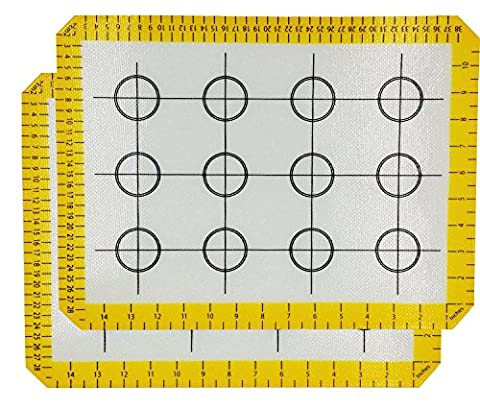 HelpCuisine Tapis silicone ,Tapis de cuisson de haute gamme, Set