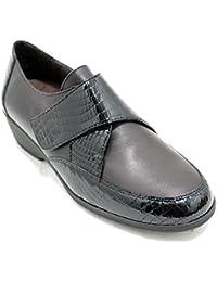 06925377e90 Doctor Cutillas 91715 - Zapatos Clásicos de Piel y Licra Adaptables con  Plantilla Extraible Velcro y