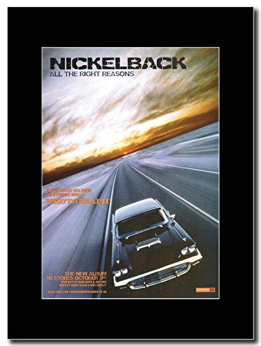 Nickelback-all the Right Reasons Magazine promo su una montatura nero