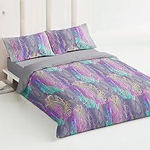 Burrito Blanco - Juego de funda nórdica 336 Azul, para cama de 150 x 190/200 cm.