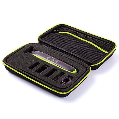 Migavenn-Portable voyage Eva rasoir électrique tondeuse rangement boîte sac organisateur pour Philips Norelco OneBlade QP2530 2520-Verte