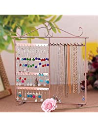 Metal Iron Earrings Necklace Ear Studs Jewelry Display Rack Stand Organizer Holder