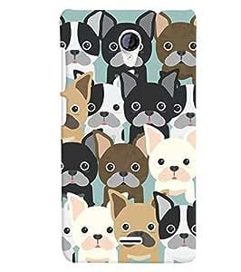 Citydreamz Cute Dogs Hard Polycarbonate Designer Back Case Cover For Xiaomi Redmi Note 2