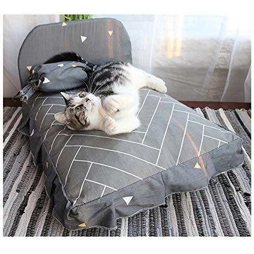 Herausnehmbare Waschbares Hundebett Mit Glattem Reißverschluss, Memory-Foam-Bett-Katze-Nest Zu Halten Im Winter Warm (Farbe : Grau, Size : 19.7 x 23.6 in)