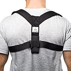 Supportiback Rückenstützgürtel & Geradehalter zur Haltungskorrektur – Haltungstrainer & Rückengürtel Gegen Rückenschmerzen – Stark Gepolsterte Gurte & anpassbares Design für Bessere Körperhaltung