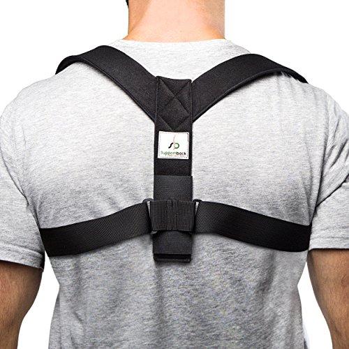 Support iback Cinturón lumbar & recta plana Corrección de postura–Postura Trainer & Espalda Cinturón contra Dolor de espalda–Muy acolchado correas & Diseño personalizable para mejor Postura