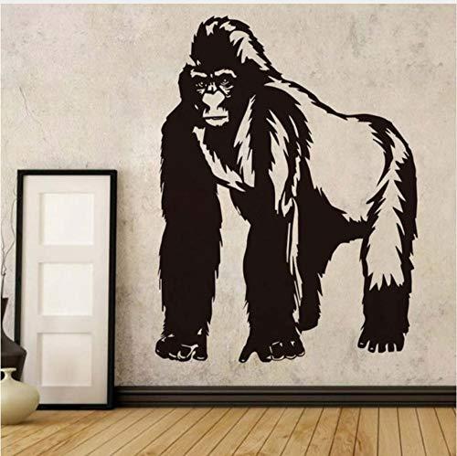 Qqasd Schimpanse Wandaufkleber Für Kinderzimmer Schlafzimmer Cartoon Tiere Vinyl Aufkleber Wandhaupt Wandkunst Dekoration Zubehör 58x77 cm -
