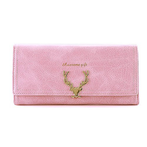 04912f84a4721 Woolala Elegant Womens Deer-Type Lock Wallet Nubuck Multi Card Slots Long  Purse
