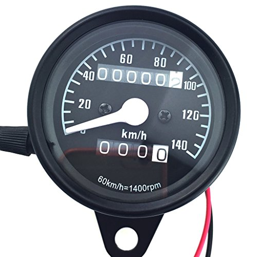 Generic Motorrad Klassische Dual-LCD- kilometerzähler Tachometer Gauges 12V