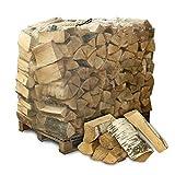PALIGO Brennholz Kaminholz Feuerholz Grillholz Ofenholz Smokerholz Scheitholz Birken Holz Trocken Ofenfertig Birke 33cm 1RM = 1,4SRM / 1 Palette Heizfuxx