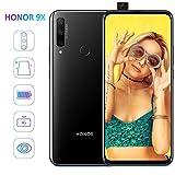 HONOR 9X Smartphone Débloqué 4G, 4Go RAM 128Go ROM, 6,59 Pouces FullView Écran, 48MP Triple Caméra, 16MP Pop-up Selfie Caméra, Double Sim, Noir