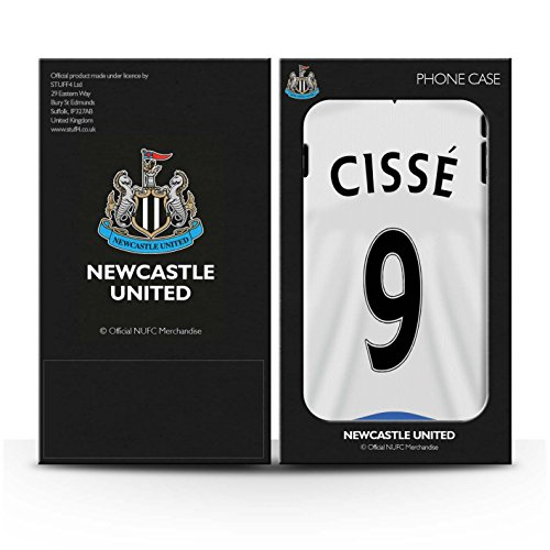 Offiziell Newcastle United FC Hülle / Glanz Harten Stoßfest Case für Apple iPhone 6+/Plus 5.5 / Wijnaldum Muster / NUFC Trikot Home 15/16 Kollektion Cissé