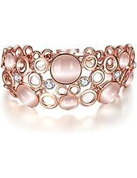 Shining Diva Fashion 18k Rose Gold Bracelet for Girls and Women