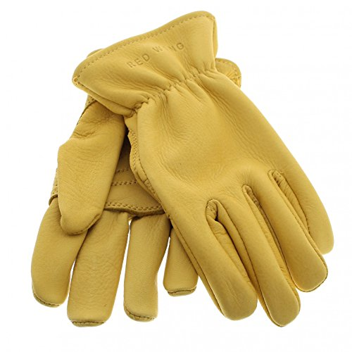 Red Wing Shoes 95233 GLOVES Yellow Hirschleder Handschuhe für Damen und Herren Beige (L) (Boot-handschuhe)