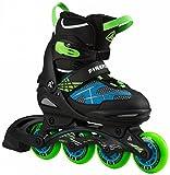 FIREFLY Jungen Inline-Skates FF Comp Adj Jr, schwarz/blau/lime,37