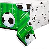 Unique Party - 27303 - Nappe en Plastique Football - 213 Cm X 137 Cm