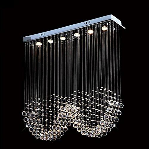 XHH #Kronleuchter Double Crystal Kronleuchter/Modern Simple Restaurant Lights Bar Hängeleuchten Study Lamp Wohnzimmer Kronleuchter (Size : 7 lights/120 * 25 * 120cm) -