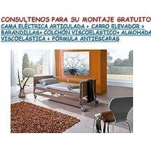 CAMA ELECTRICA ARTICULADA + CARRO ELEVADOR +BARRANDILLAS+ ALMOHADA VISCOELÁSTICA + COLCHÓN VISCOELÁSTICO + CREMA ANTIESCARAS DE REGALO