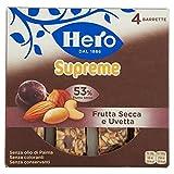 Hero Barrette ai Cereali Supreme Frutta Secca e Uvetta- 12 Confezioni da  4 X 24 g