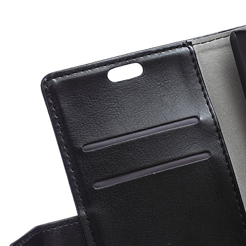CaseforYou Hülle iphone X Schutz Gehäuse Hülse PU Leather Wallet Case Magnetic Flip Stand Cover with Card Slots Schutzhülle für iphone X Handy (Red) Black