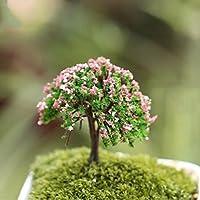 Nabati Árbol de plantas en miniatura jardín de hadas adorno maceta decoración 1pieza Happy Tree por Helper007