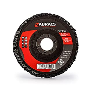 Abracs ABPOLY115 Poly Disc For Rust And Paint Removal Black 115mm, 0 V, Multicoloured