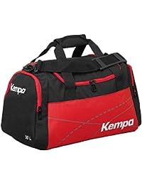 Kempa Bolsa de deporte grande negro/rojo 65x 31x 37,5cm, 75L (en deseos con texto impreso Nombre)