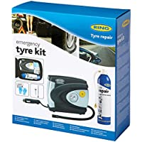 Ring RTK1 Emergency Tyre Repair Kit - 12V Tyre Inflator, Tyre Pressure and Depth Gauge, Tyre Sealant, Protective Gloves, Cleaning Wipes and Storage Case preiswert