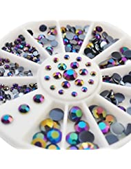Sindy Boite strass bijoux ongles deco ongles cristal gel tip nail glitter 3D vernis Manucure 6 taille