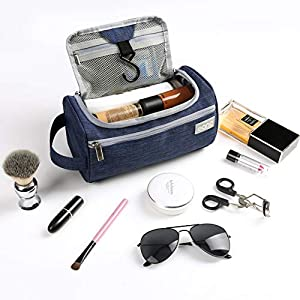 Eono by Amazon - Hanging Travel Toiletry Bag Overnight Wash Gym Shaving Bag for Men and Women Navy