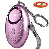 Taschenalarm - 140 dB Safesound Personal Alarm mit Taschenlampe Schlüsselanhänger, Panikalarm Selbstverteidigung Sirene für Frauen Kinder
