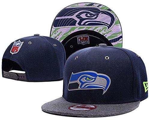 Preisvergleich Produktbild SEATTLE SEAHAWKS Snapback Hats Classic Men & Women's Fashion Football Cap Black 2 One Size