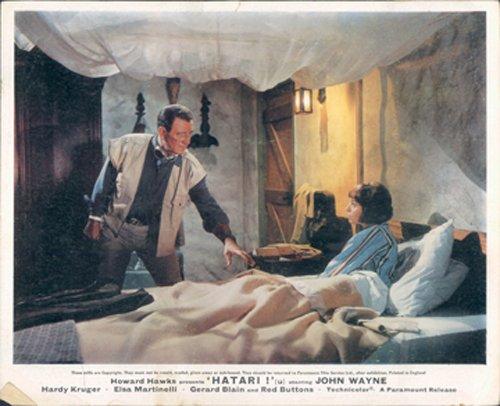 Hatari John Wayne Elsa Martinelli im Bett Original Lobby Card British